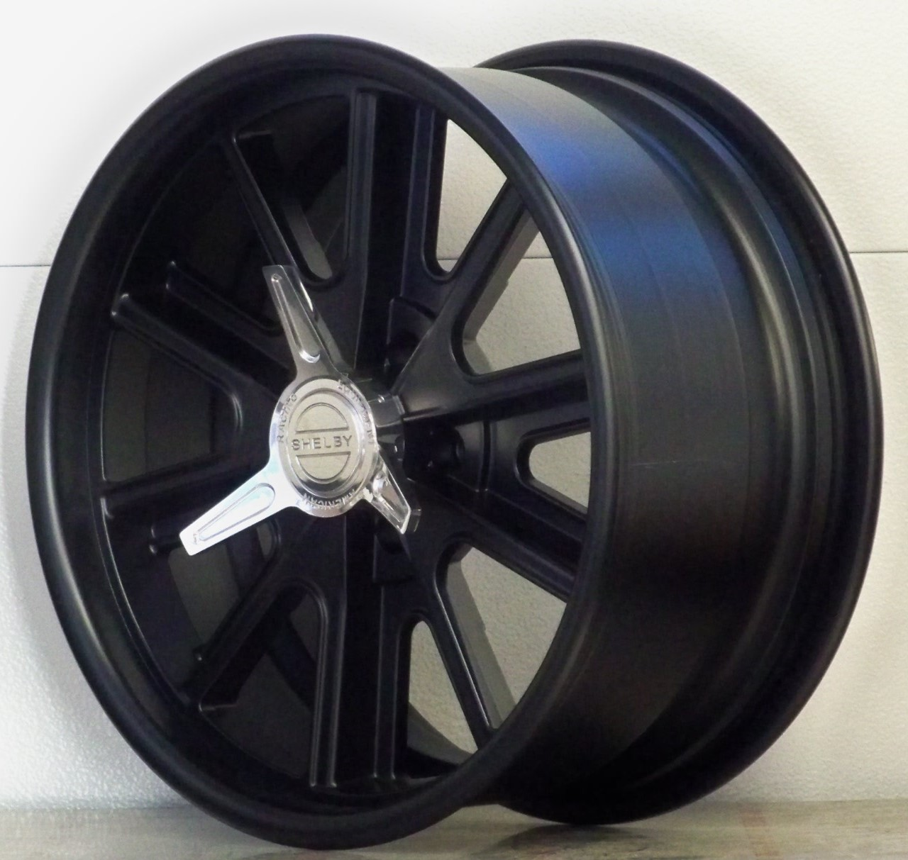 407SB Shelby satin black with spinners (price per wheel)