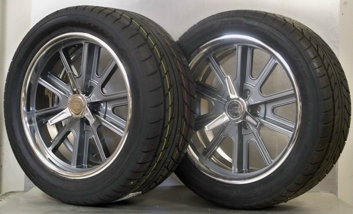 18s 407S Shelb set 4 gray or black 05-17 Mustang NT555ZR