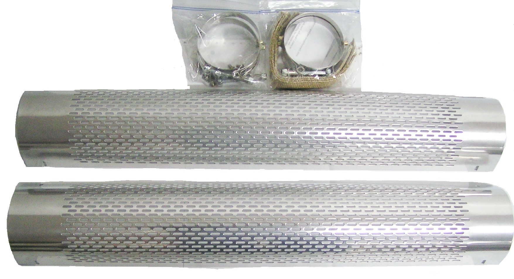 Heat shields for side pipes chrome SET OF 2