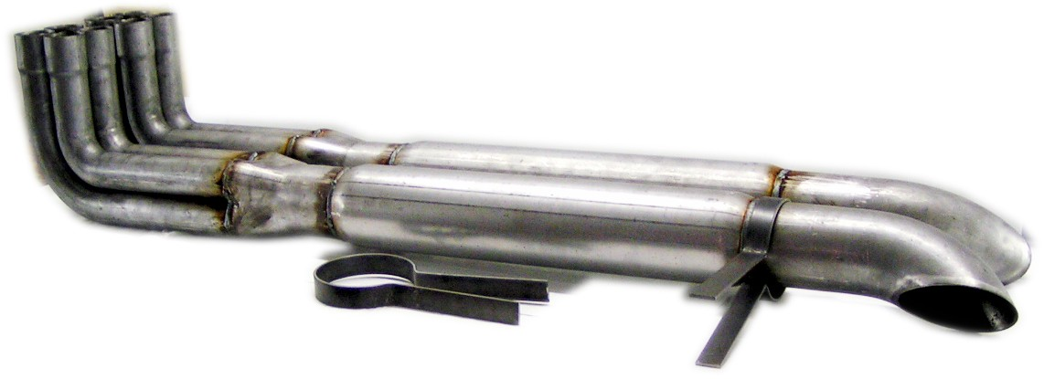Side Pipes - nickel chrome plated (pair)