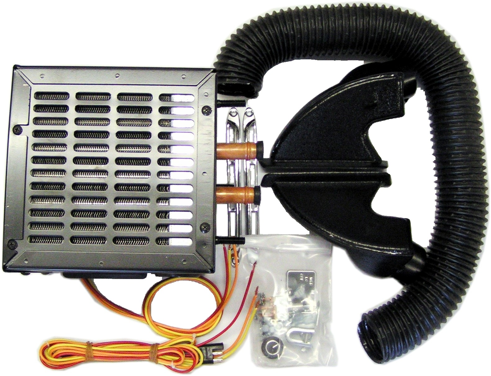 Heater Kit with Ducts, Grills, 3 speed Fan