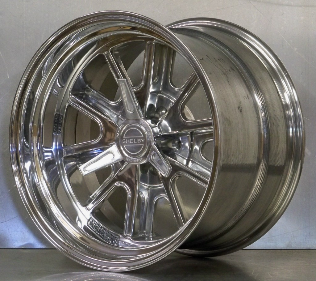 .427 Shelby 5 lug wheels polished including spinners