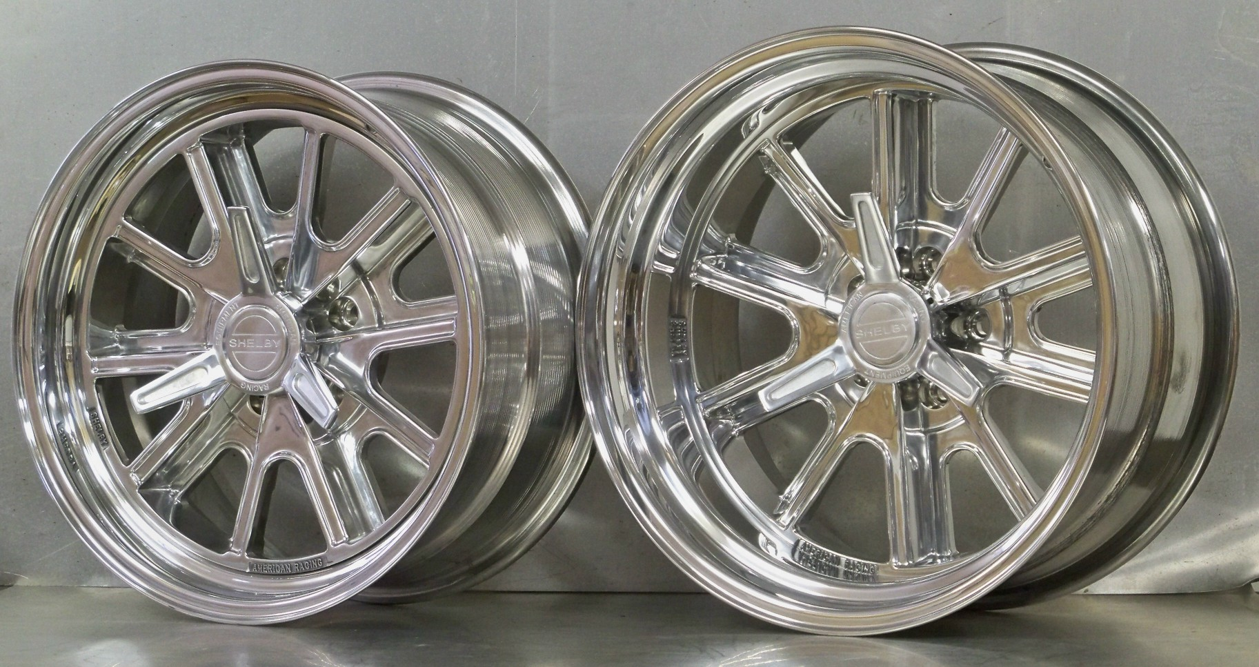 17s 427 Shelby polished 5 lug set of 4 AK 427 Cobra