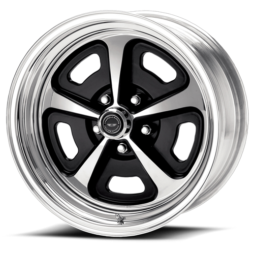 500 series Magnum style wheel 2 piece black /polished