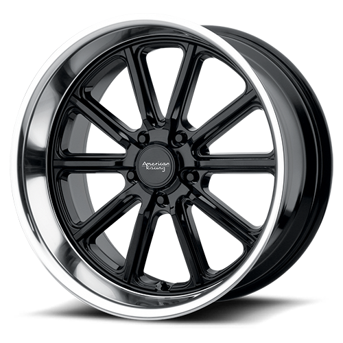 VN507 Rodder Black with diamond cut lip (price shown per wheel)