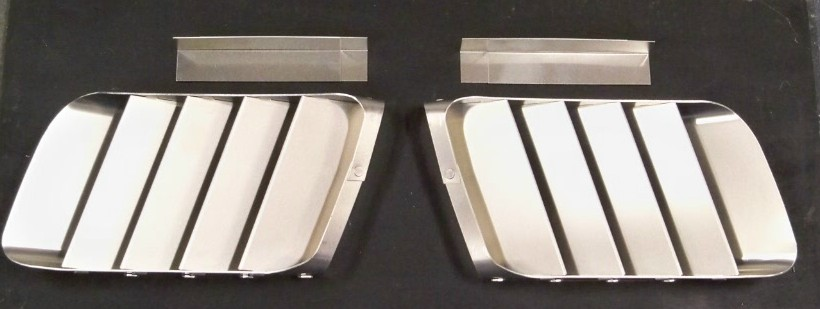 Side Vent Louvers - aluminum (pair)