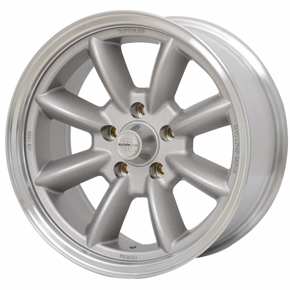 Superlite race wheel sizes 13 to 17 inch