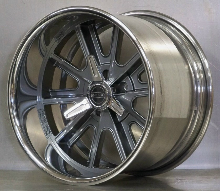 407S Shelby gray soft look rim with spinners (price each)
