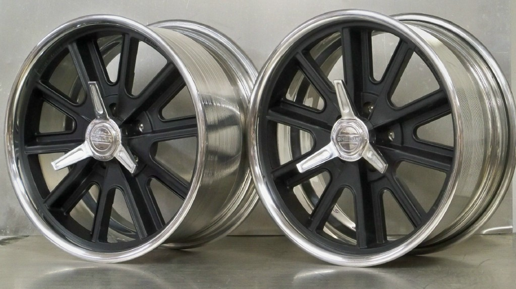 "407S 5 lug 18"" set of 4 gray or black Mustang 79-93"