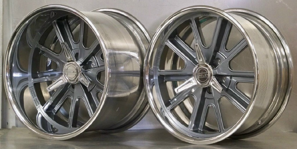 18s SET of 4 - 407S Shelby staggered EXTRA WIDE 65-73 Mustang