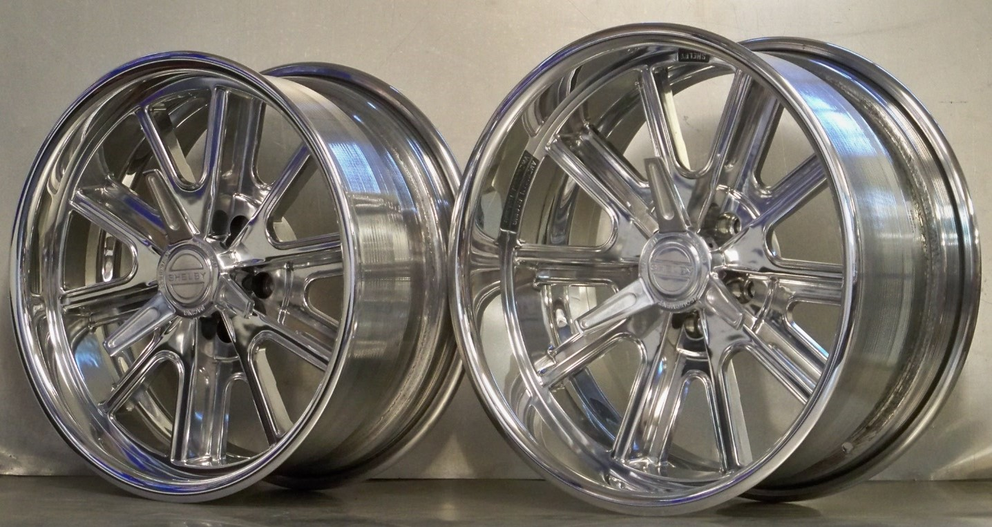 17/18 407SP Shelby POLISHED RAKED SET OF 4 Mustang 65/73