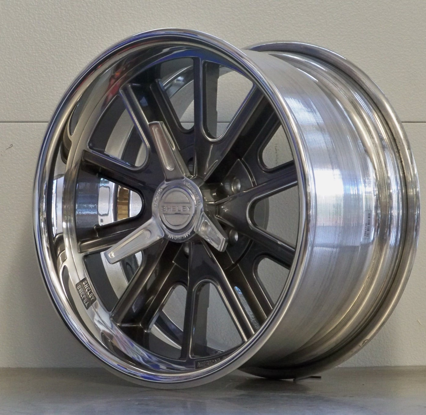 18s 407SSP gray custom centers set of 4 05-20 Mustang