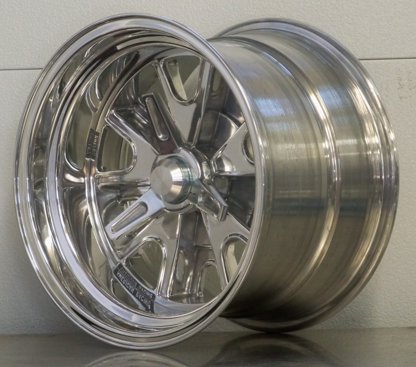 15s Shelby 427 AC set of 4 Polished 5 lug for A and C Cobra