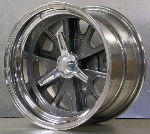 15s 427 pin drive set 15x8 15x10 gray polished centers