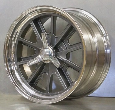 17s 427 pin drive set wheels only 17 x 9 17 x 11 Shelby gray