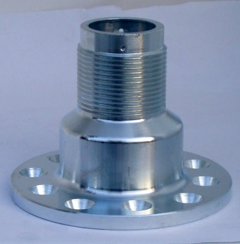 Adapter forged steel zinc plated