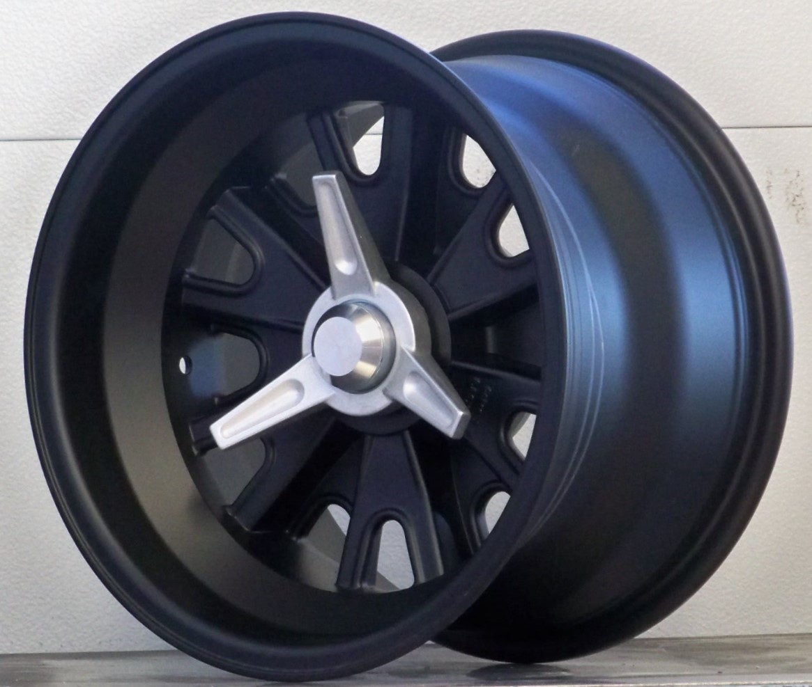 HA 01 6pin wheels Satin Black set of 4 wheels only
