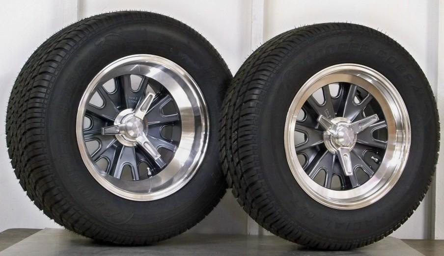 ha01 set 4 wheels with cooper cobra tires : vintage wheels, mustang