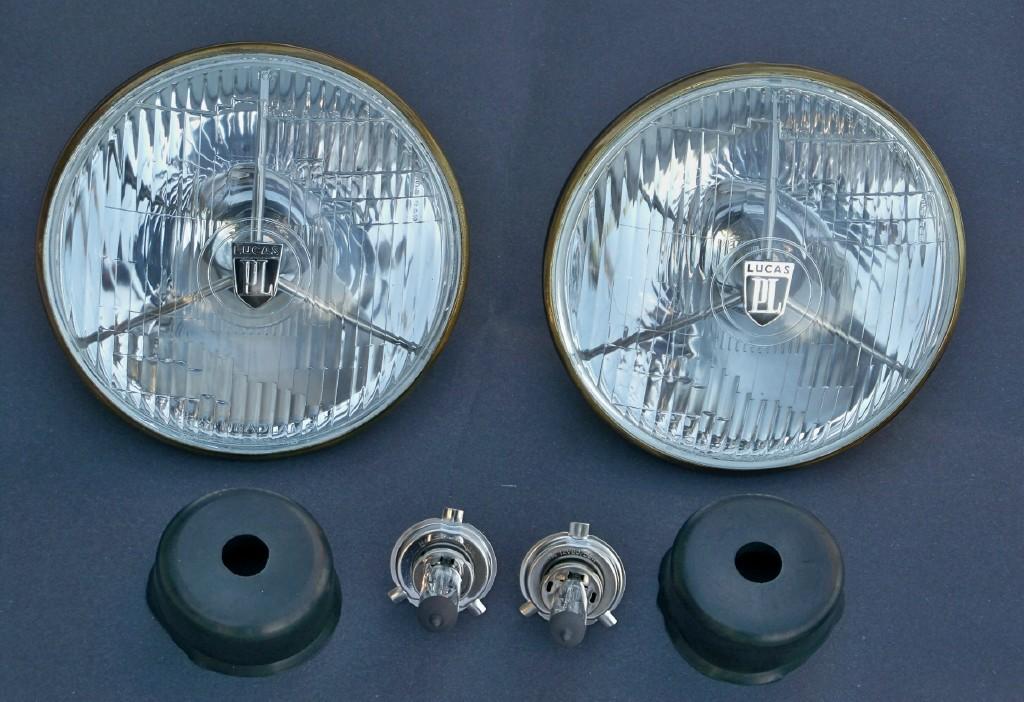 Lucas Tripod Headlights Pl700 Pair Vintage Wheels