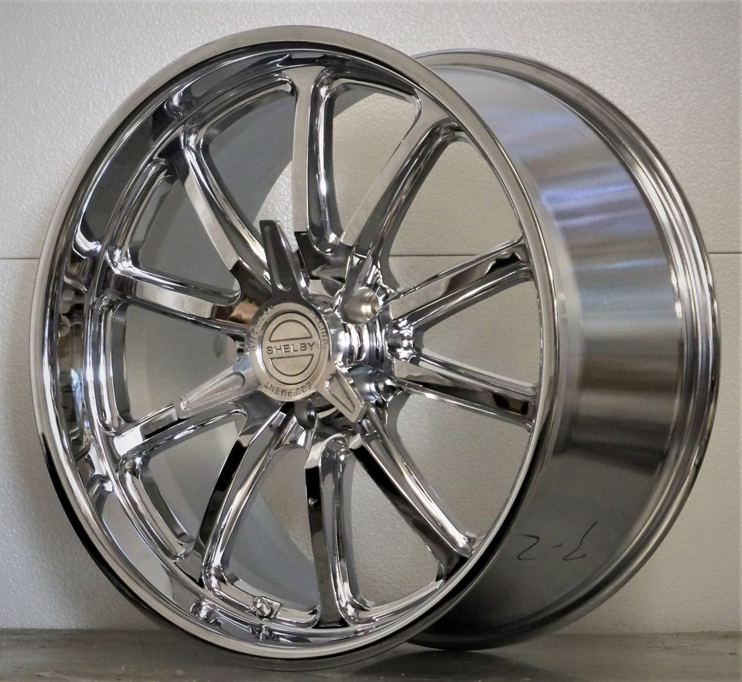 20s set of 4 RSC US Mags Shelby spinners chrome 05-20