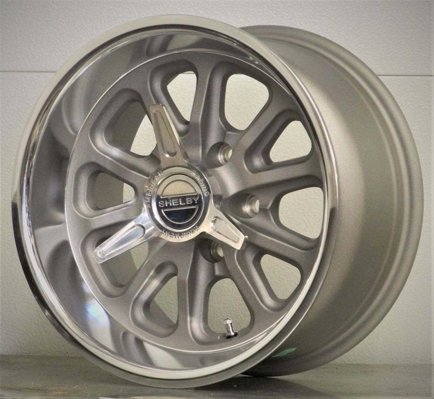 15s set of 4 RSS US Mags Shelby spinners silver gray 65-73