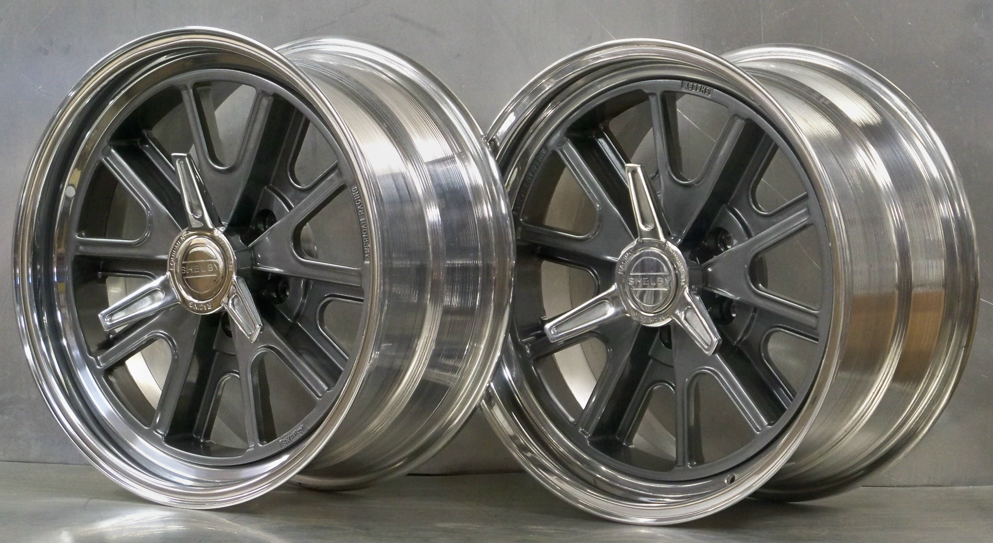 407 And 427 Shelby 174 5 Lug Vintage Wheels Mustang Hot