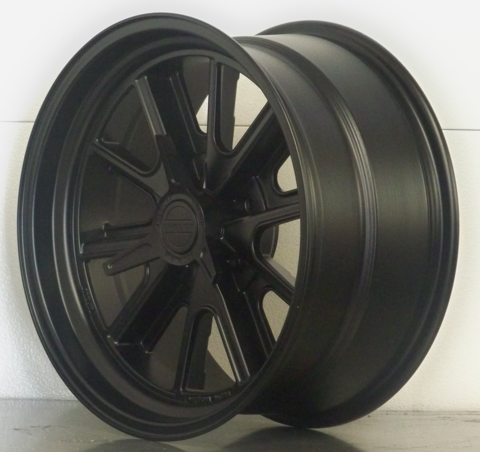17/18 SET OF 4 17x7/18x8 raked 427 Shelby 65 73 Mustang BLACK