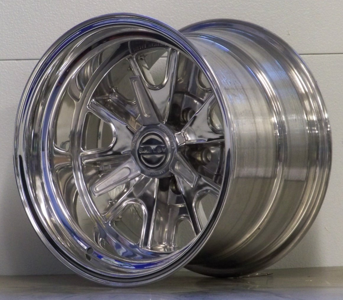 427 Shelby 5 lug polished incl spinners (price shown per wheel)