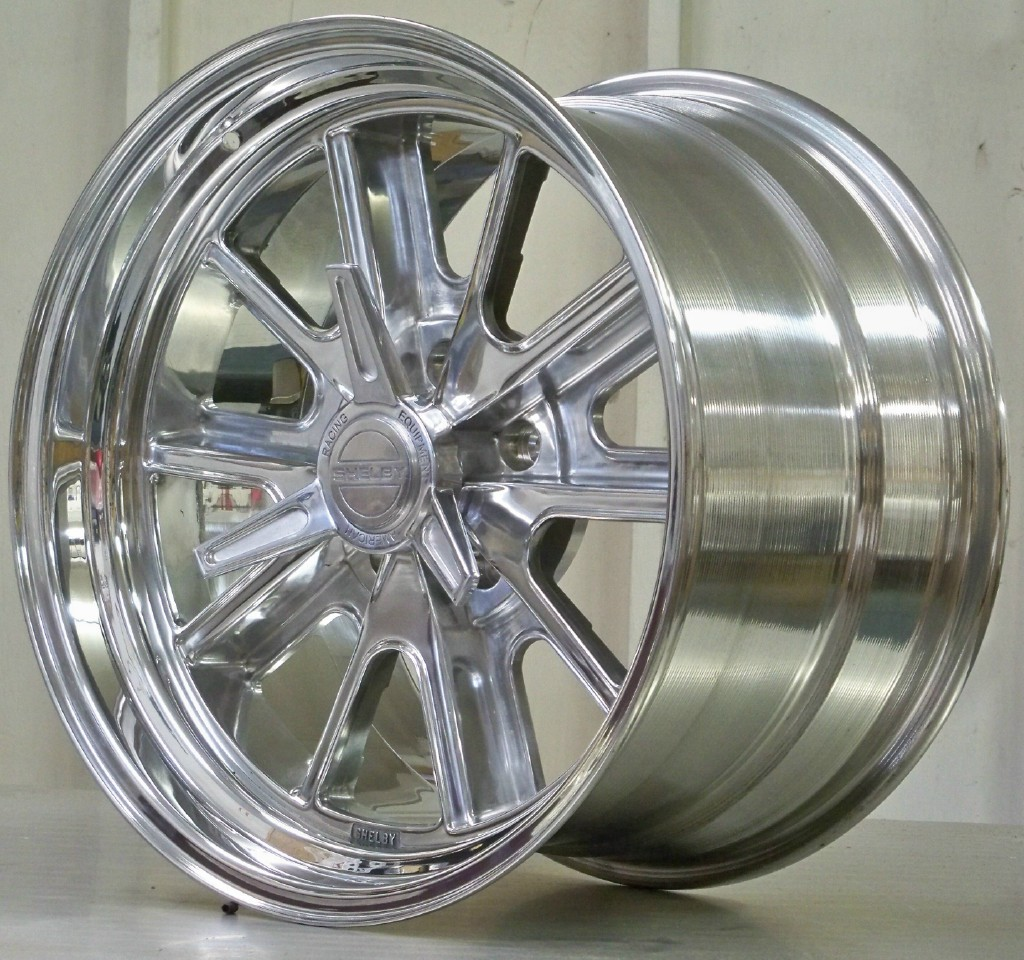 17s 427 Shelby Polished 5 lug set of 4 AC 427 Cobra
