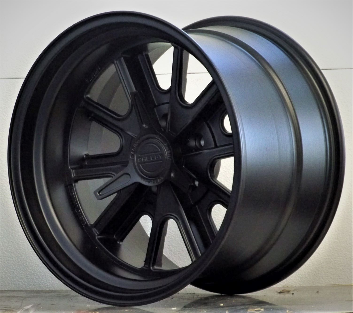 427 Shelby 5 lug all over black with.spinners (price per wheel)