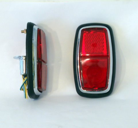 Lucas L542 style Rectangular tail lights (pair)